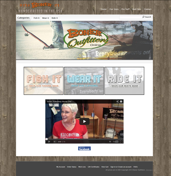 Boner Outfitters Web Site
