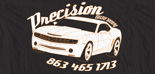 Precision Auto Body tee shirt