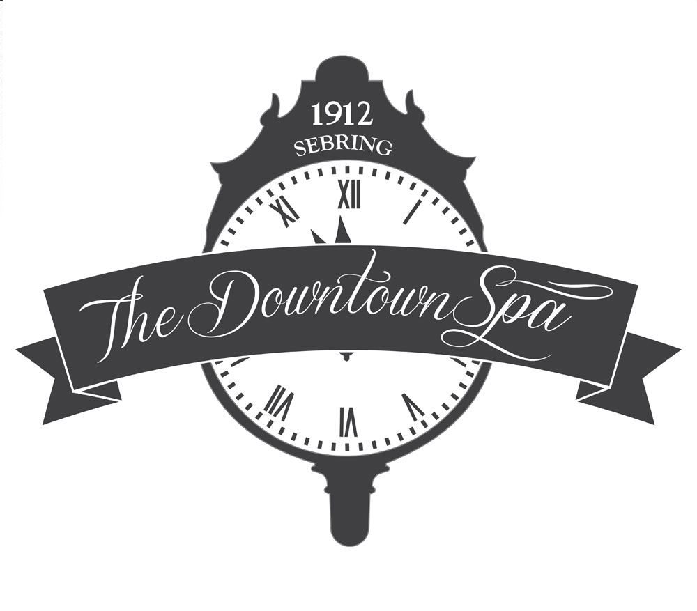 Logo I designed for The Downtown Spa in Sebring, Fl. On the circle ...